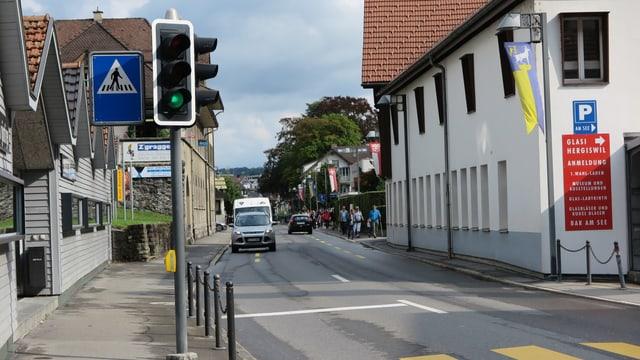 Strasse in Hergiswil