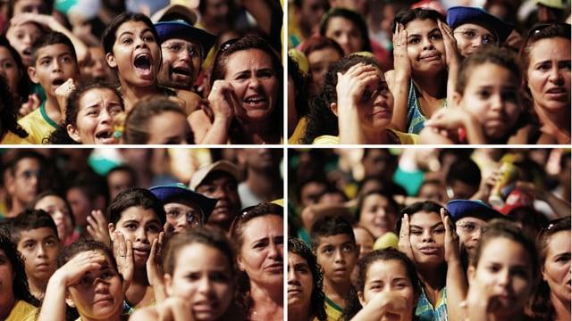 Emotionale Ausbrüche bei Zuschauern der Fussball-WM.