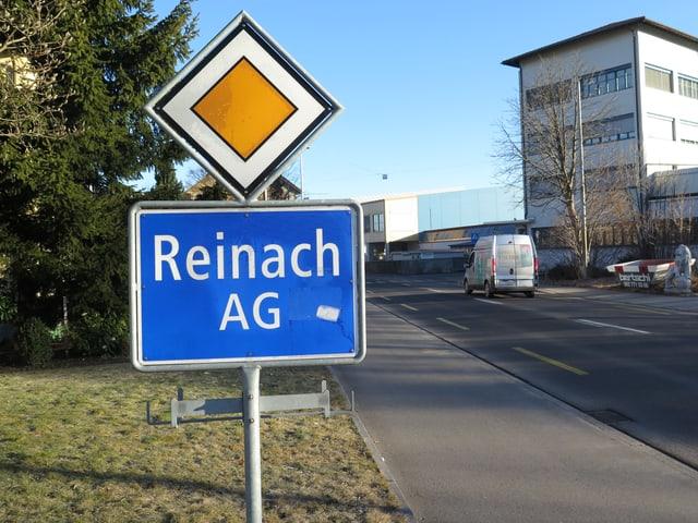 Ortsschild Reinach