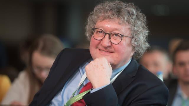 Werner Patzelt, Politikwissenschaftler und CDU-Mitglied, während einer Versammlung der Sächsischen Union.