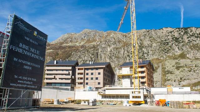 Baustelle in Andermatt