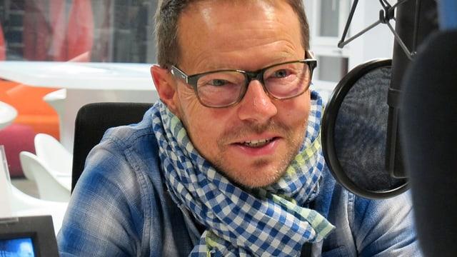 Bänz Friedli im Radiostudio.