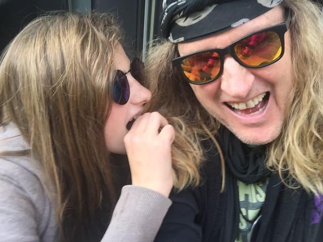 Chris von Rohr mit Tochter