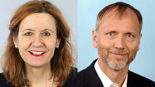 Prof. Ursula von Mandach und Prof. Roland Zimmermann