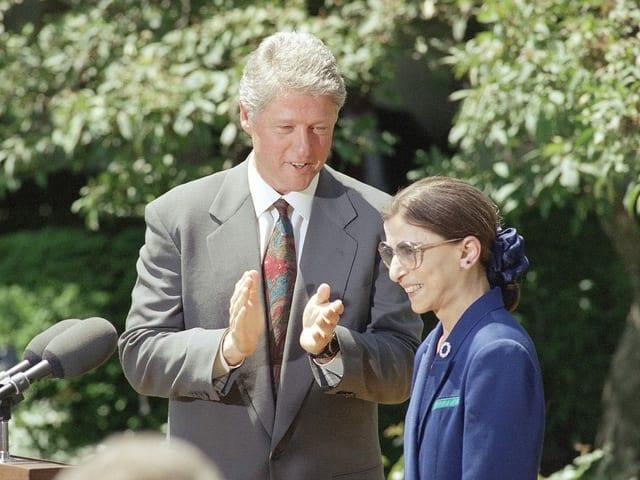 Bader Ginsburg und Bill Clinton.