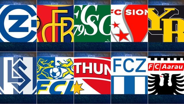Diese 10 Teams bestreiten die Saison 2013/14.
