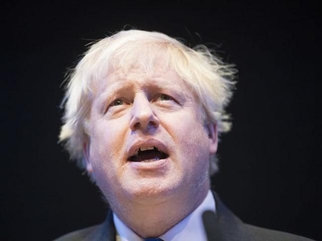 Porträt von Boris Johnson.