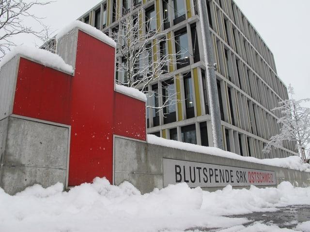 Blutspendezentrum in St. Gallen von aussen