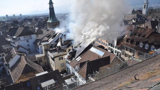 Solothurner Altstadtbrand März 2011
