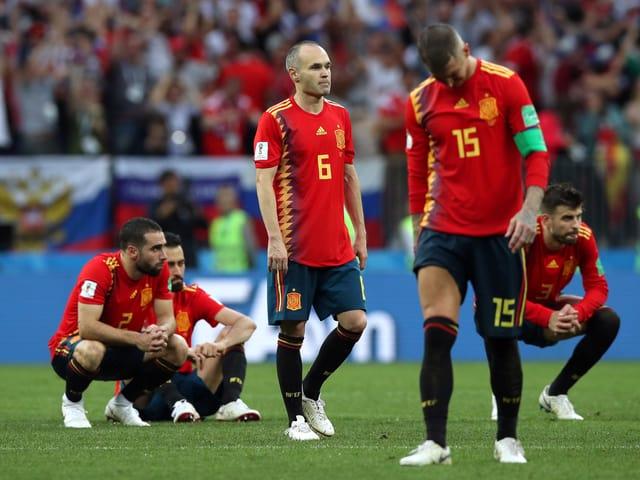 Die bitteren enttäuschten Spanier.