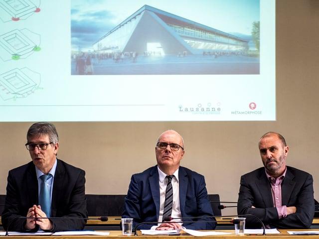 Medienkonferenz zum neuen Stadion am 12.12.16 in Lausanne.