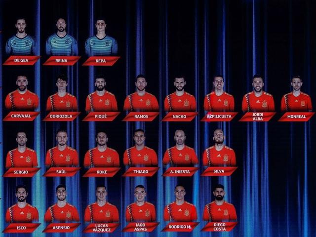 Das 23-Mann-Kader Spaniens.