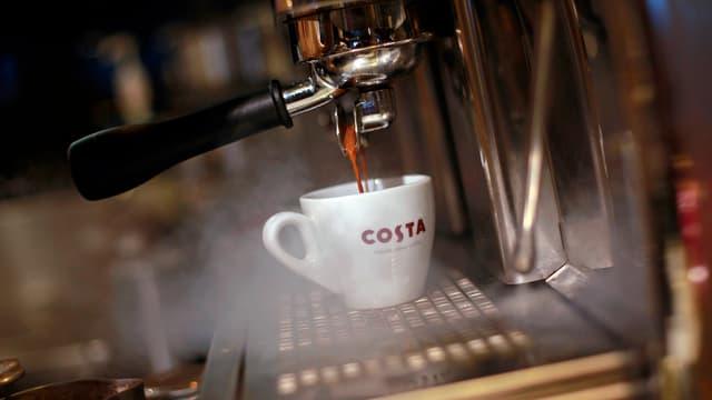 Symbolbild: Eine Espresso-Tasse Kaffe.