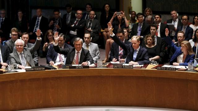 Abstimmung im Sicherheitsrat der UNO.