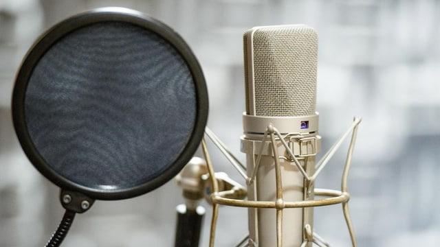 Mikrofon für Hörspiel-Aufnahmen