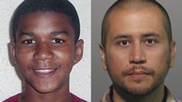 Trayvon Martin und George Zimmerman