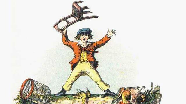 Illustration: Der wütende Friederich aus dem «Struwwelpeter»