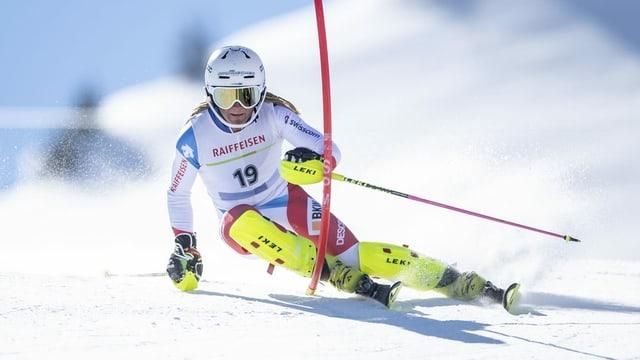 Fadri Janutin vid ir in slalom