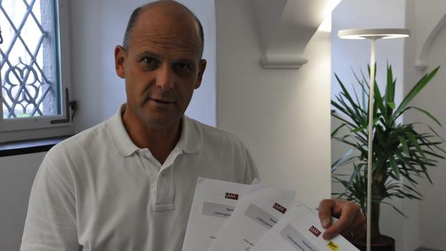 Daniel Fischer che muossa 3 prospects da Flem Laax Falera.