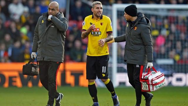 Valon Behrami verletzt sich am Boxing Day gegen Crystal Palace.
