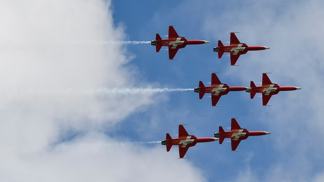 flugzeuge im Formationsflug