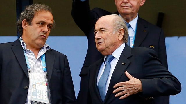 Michel Platini und Sepp Blatter im Gespräch