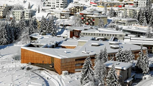 Blick auf das Kongresszentrum von Davos