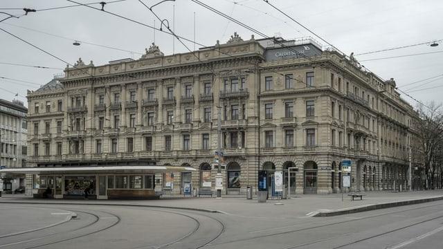Bajetg da la Credit Suisse al Paradeplatz a Turitg.