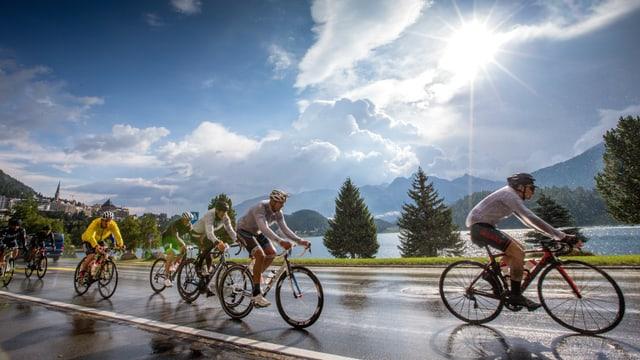 ciclists a San Murezzan