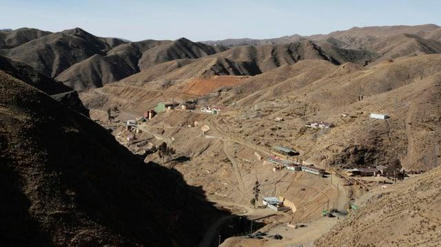Ina mina da zinc en la Bolivia.
