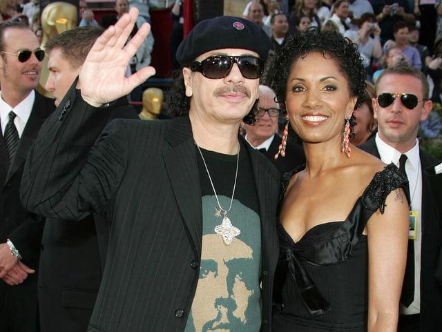 Carlos Santana mit seiner ersten Deborah King.