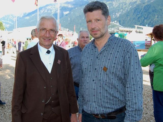 Walter Dietrich Programmchef Unspunen (links) und Volkskultur-Kenner Johannes Schmid-Kunz.