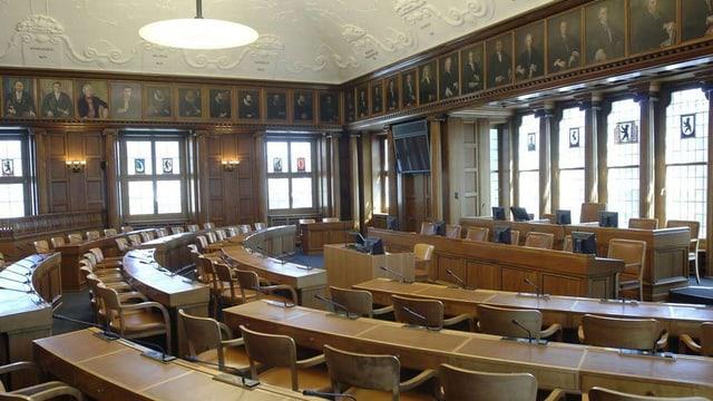 Der leere Kantonsratssaal in Herisau.