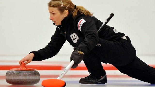 Curlingsszene mit Skip Silvana Tirinzoni