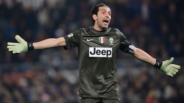 Auf Gianluigi Buffon prasselte nach dem Hinspiel herbe Kritik nieder.