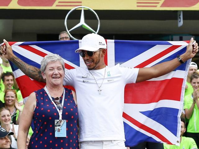 Carmen und Lewis Hamilton