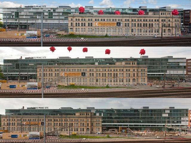 Die Reise des MFO-Gebäudes in drei Stationen.