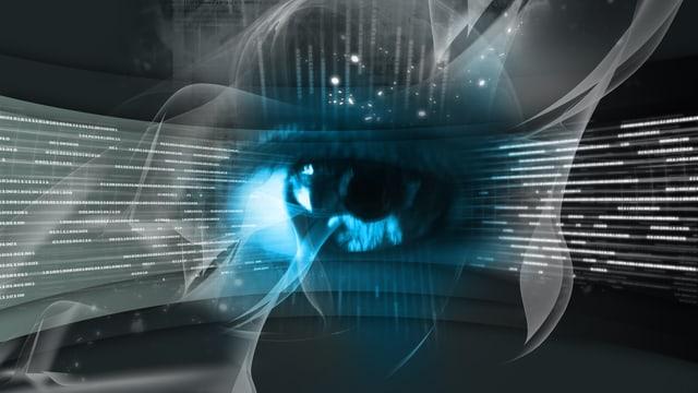 Auge vor Digital-Animation.