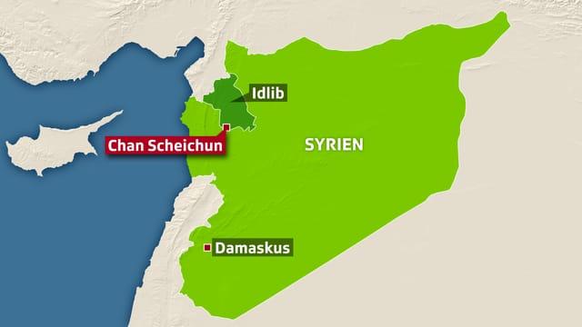 Karte von Syrien.