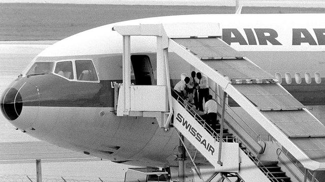 Entführtes Flugzeug.