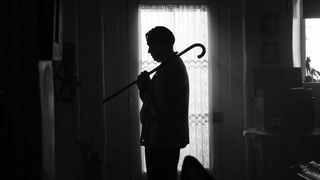 Gary Oldmans Silhouette aus dem Film «Mank».