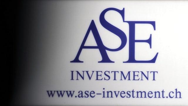 Firmenschild ASE Investment.