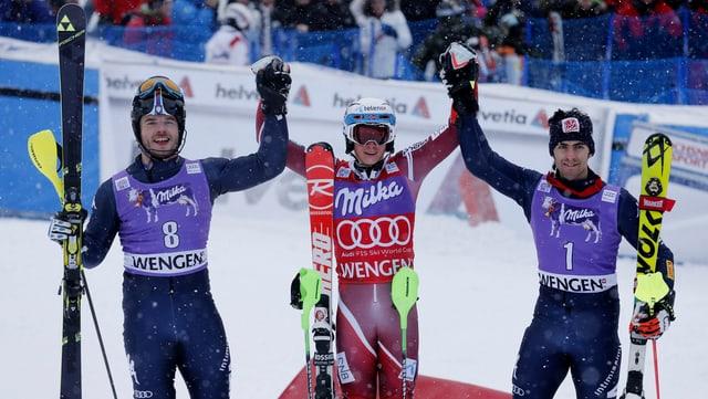 Ils victurs dal slalom a Wengen.