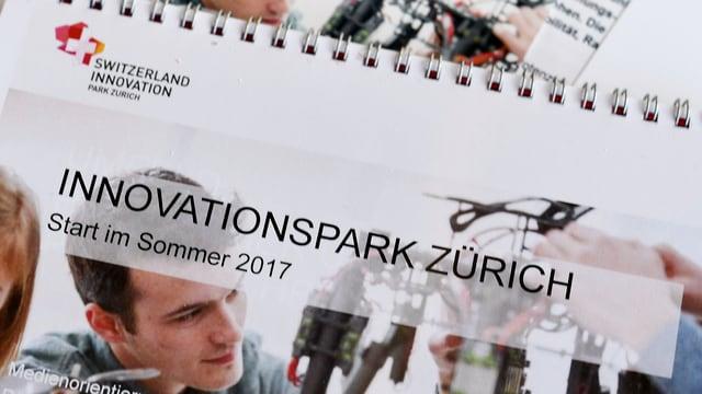 Ein Prospekt mit dem Titel «Innovationspark Zürich».