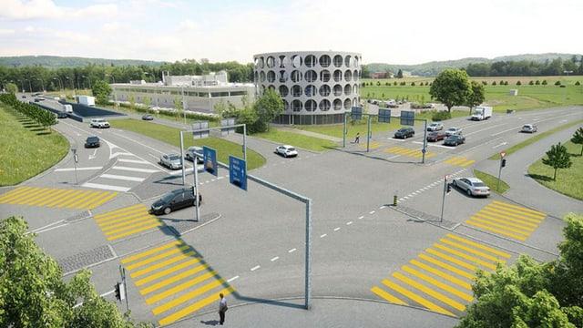 Visualisierung Strassenkreuzung