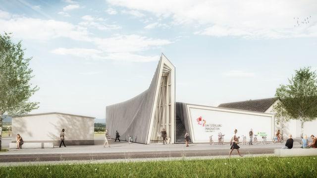 Visualisierung des Pavillons.
