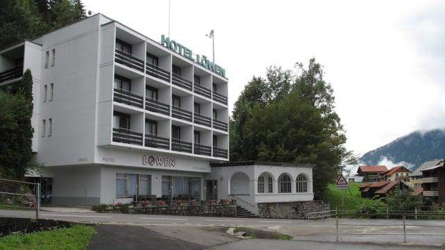 Eine Aussenansicht des ehemaligen Hotels Löwen.