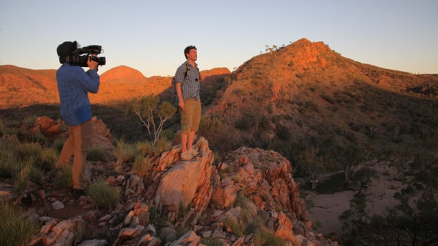 Sven Furrer beim Birthday Waterhole, West MacDonnell Ranges Nationalpark