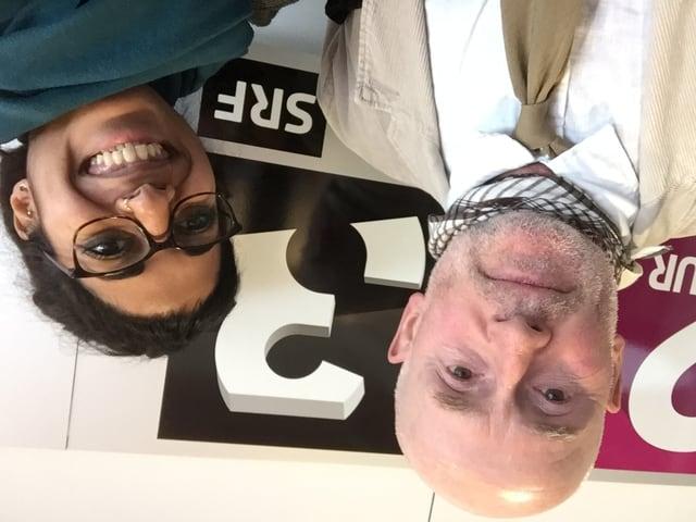 Selfie mit Meinrad Pfister und Reena Thelly