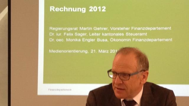 Finanzdirektor Martin Gehrer präsentiert die Zahlen 2012